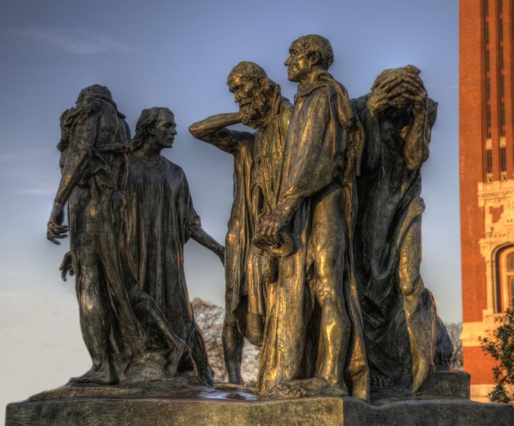 The Burghers of Calais by Rodin