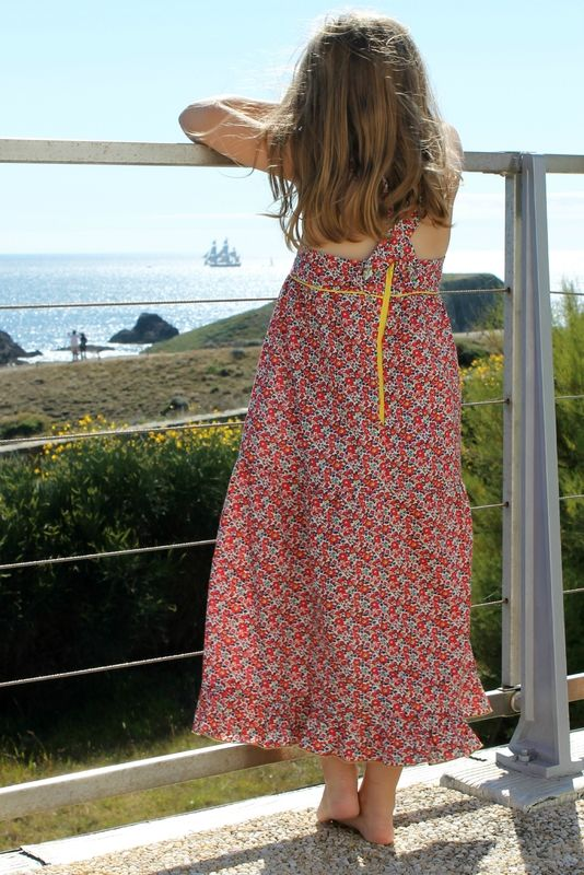 mademoiselle sunday de vanessa pouzet en version robe longue + tuto pour modifier le patron