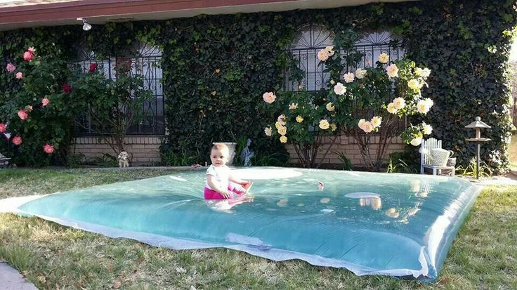Homemade water pad, great was for kids to cool off