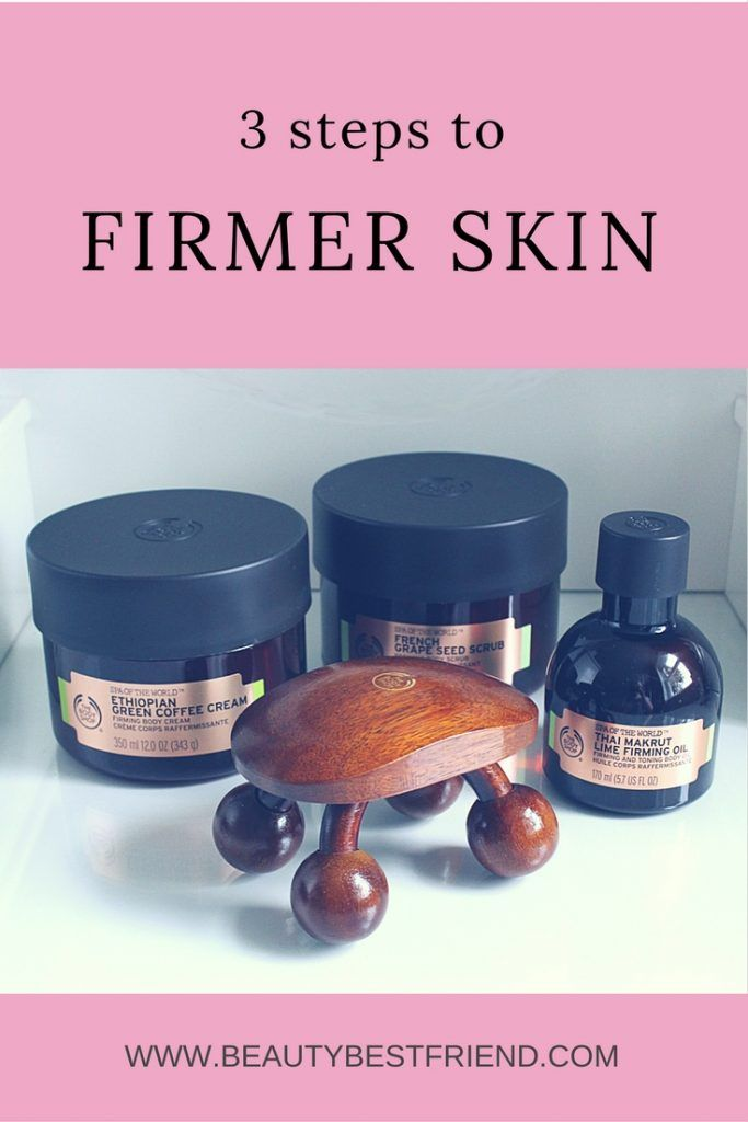 Want firmer skin? My blog post reviews the amazing Firming Ritual products from The Body Shop and I explain how I've benefited from them. Come and have a read to see if they could work for you.  firmer skin | get rid of cellulite | prevent cellulite | tone skin | the body shop | tone up