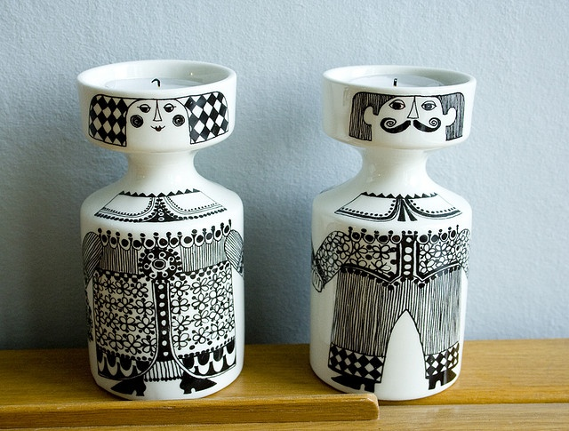 Figgjo candle holders by Made with love by Cecilie, via Flickr