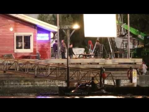 Aquaman (2018) filming at Amnesty Bay - YouTube