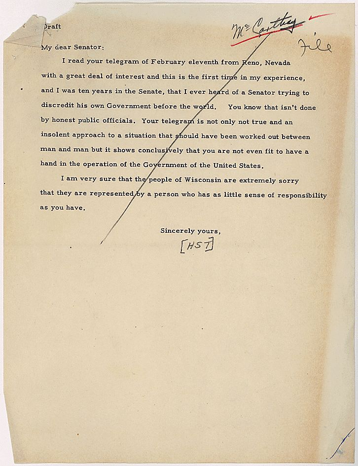an essay on president harry truman What were the intentions of president harry s truman and general douglas macarthur regarding the united states related international baccalaureate history essays.
