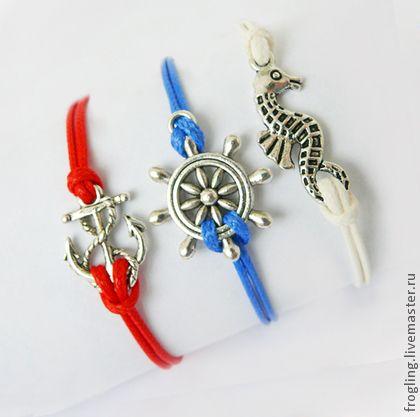 """""""Море, море..."""" - моере,браслет,якорь,морская тематика,морской стиль,штурвал"""