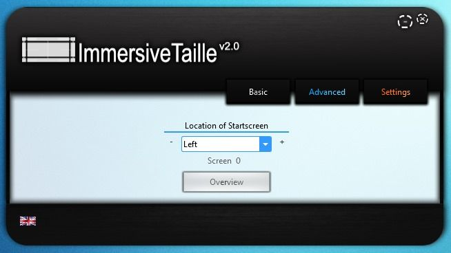 Change Size & Position Of Windows 8 Start Screen With ImmersiveTaille