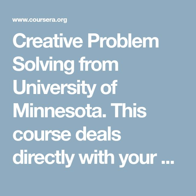 12 best oms cs 6242 images on pinterest data science deep this course deals directly with your ability for creativity which is a critical skill in any field it focuses on divergent thinking the ability to fandeluxe Gallery