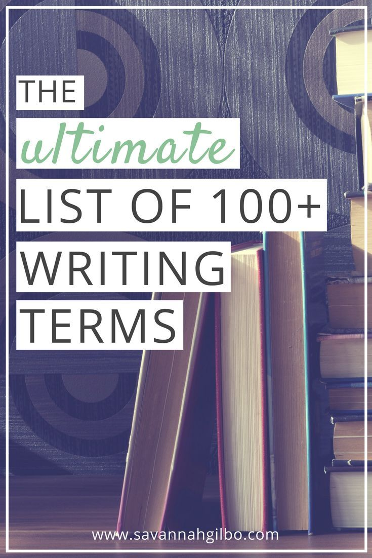 The Ultimate List of 100  Writing Terms