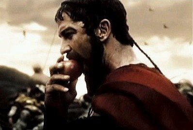Leonidas eating an apple; love this part: Leonidas Eating, Eating Apples