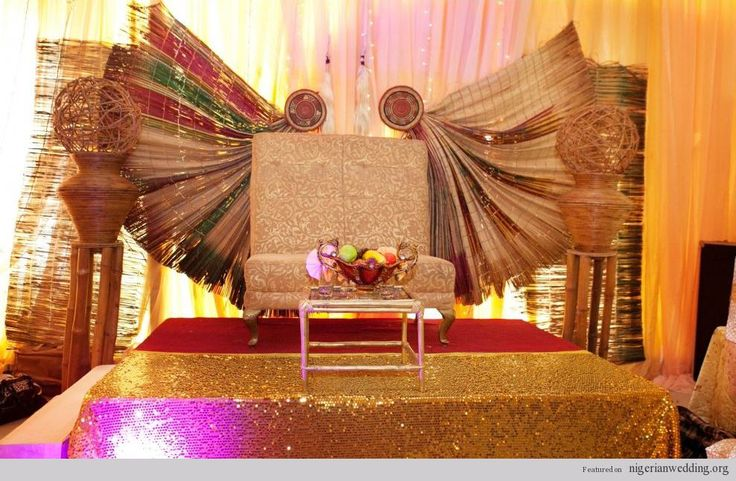 1000 images about nigerian wedding stages on pinterest red gold weddings pakistani wedding Latest decoration ideas