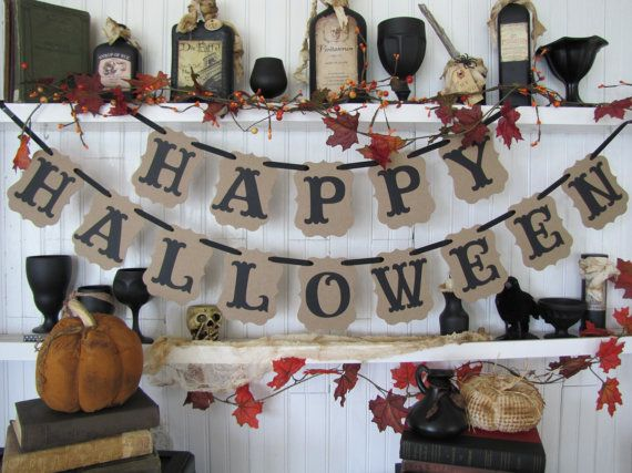 HAPPY HALLOWEEN Banner by ParamoreArtWorks on Etsy, $25.00