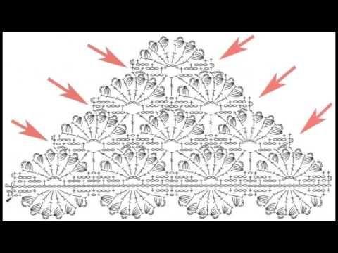 Делаем схему для шали - Making scheme for shawls - YouTube