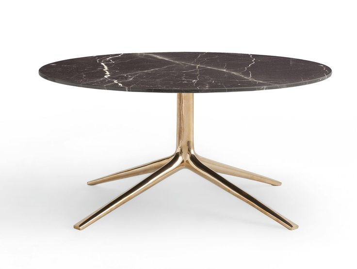 coffee table with black marble top and brass bottom