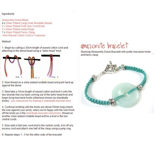 122 best macrame patterns for bracelets and jewelry images on learn how to make this beautiful amazonite macrame bracelet fandeluxe Images