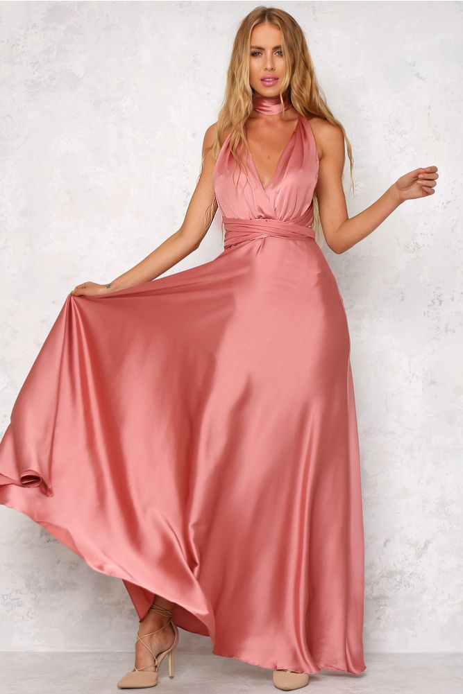 Mind And Memory Maxi Dress Rose In 2018 Beautiful Satin Dresses