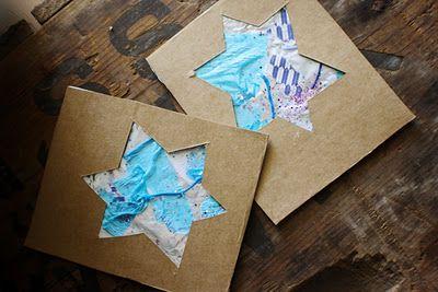 Homemade holidays: tinfoil festive Hanukkah cards