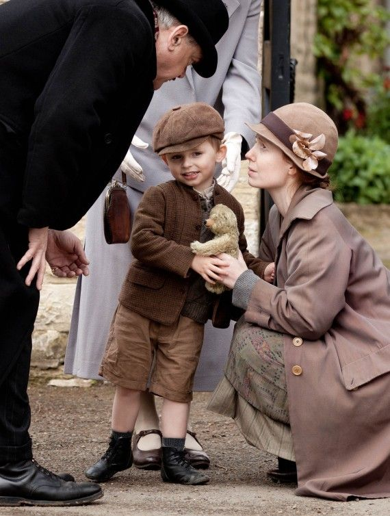Mr. Bryant is not fond of prolonged good-byes. They must be going now. I hope Charlie will be allowed to keep the little bear Ethel gave him.   Downton Abbey