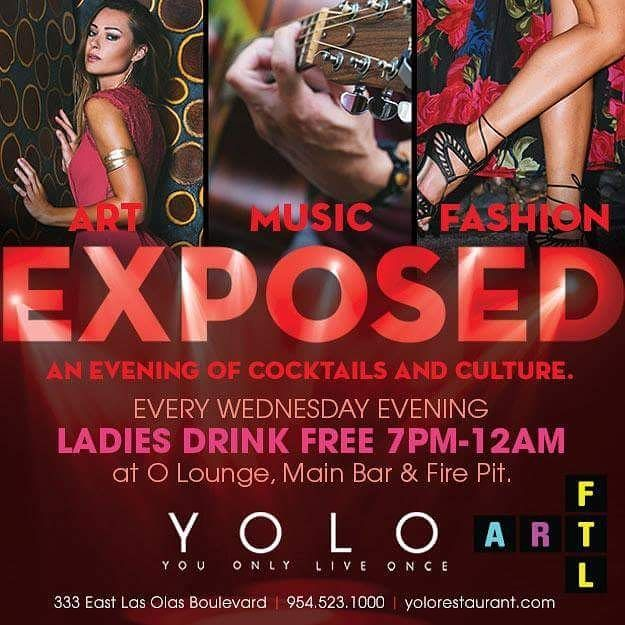 We're back at it tonight with a new group of local artists! Excited to be partnering with YOLO Restaurant to feature some of our live artists at During Ladies night on Wednesday evenings! This will be a fun filled evening of cocktails & culture including Live music by the firepit live artists & a pop up fashion boutique.  The Art Work included in this pop-up series of events will be on display in an incredible multi-sensory experience featuring a Live Art reproduction of a 3 dimensional…
