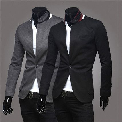 One Button Slim Fit Men Fashion Blazer . Shop Now At http://sneakoutfitters.com/collections/new-in/products/one-button-slim-fit-men-fashion-blazer