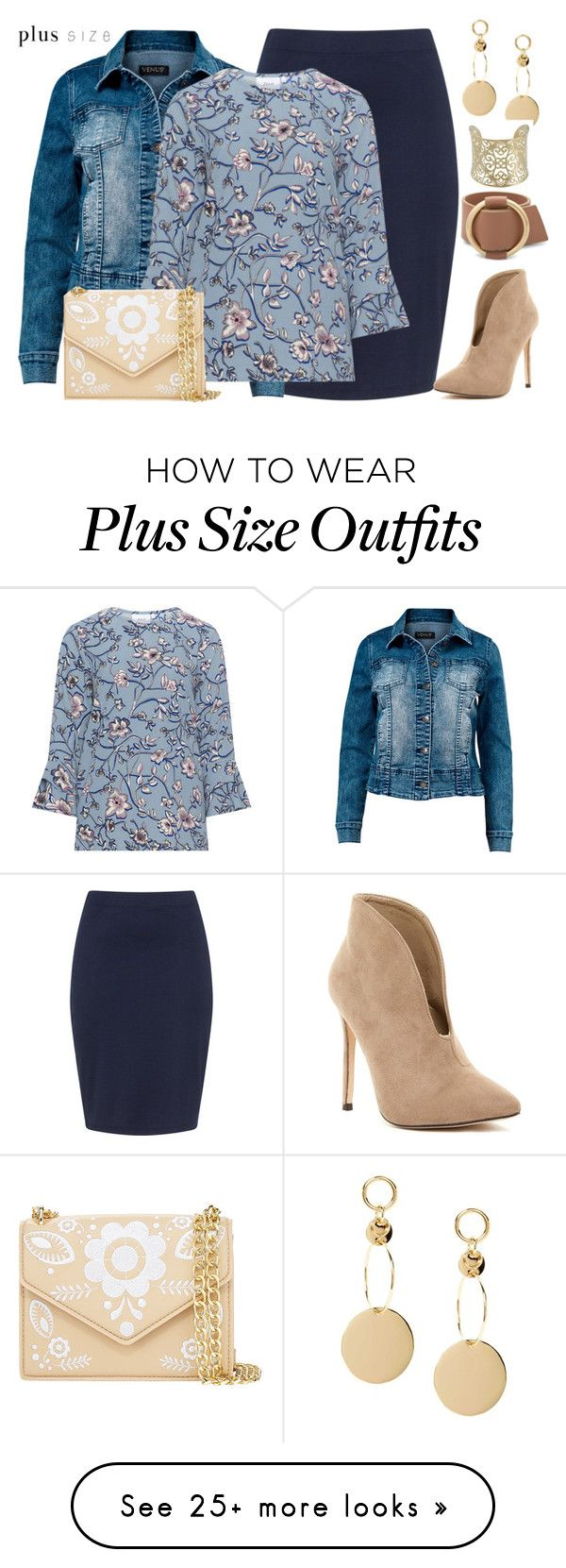 """""""Fun Office"""" by rochelle-cornelius-earp on Polyvore featuring Zizzi, Venus, Cynthia Rowley, Kabella Jewelry and plus size clothing"""