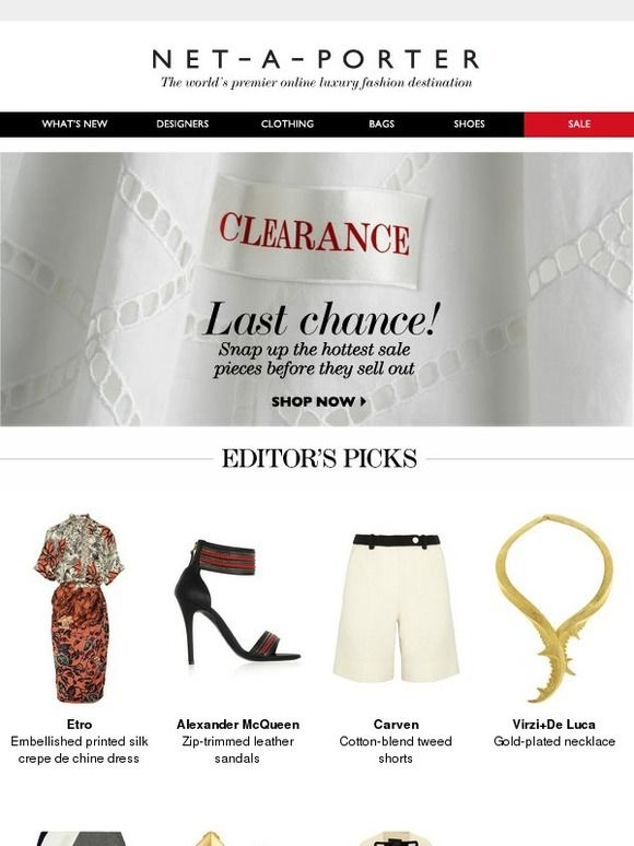 11 best email templates images on pinterest coupon codes email net a porter sale clearance our editors picks coupon codesemail fandeluxe Gallery