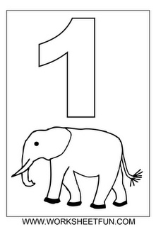 free printable worksheets number coloring pages