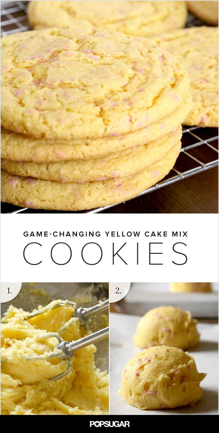 Yellow cake mix cookies: They are a game-changer, people.