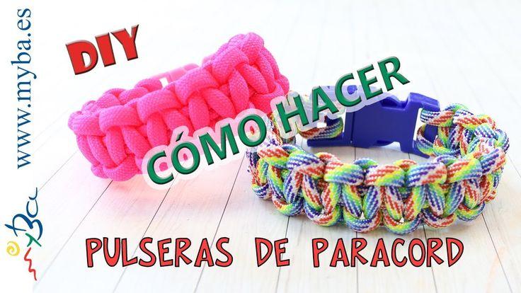 Cómo hacer pulseras de paracord DIY. Pulseras fáciles nudos cuerda paracaídas. Cobra 1 color. - YouTube
