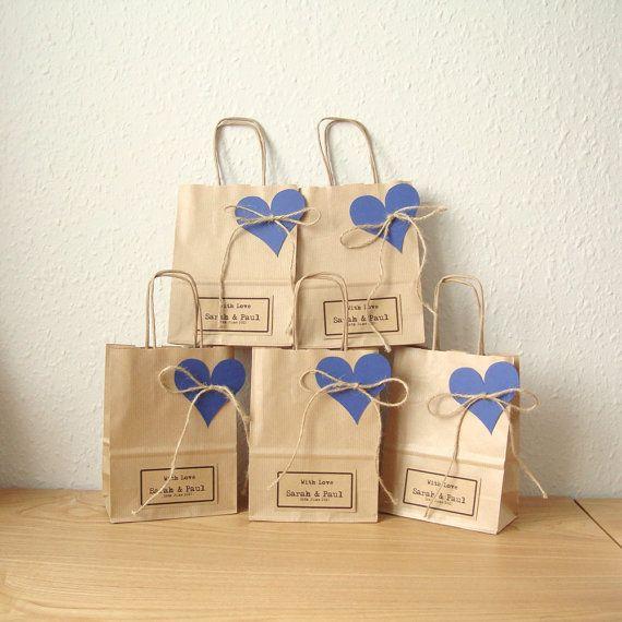 Favour bags gift bags SMALL 15cm x 19.5cm x 8cm set by shintashop