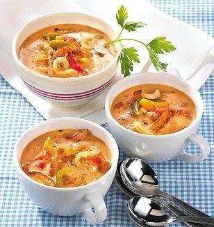 Pikante Gyros-Suppe Sehr lecker und beliebt bei Gästen