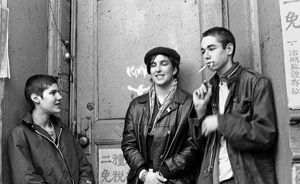 The hardcore days, circa 1981, with, from left, Michael Diamond, Kate Schellenbach and Adam Yauch