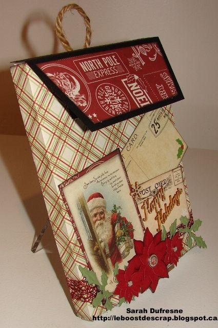 Tutoriel pour créer une boite aux lettres pour écrire au Père Noël. Création de Sarah Dufresne. Tutorial to create a Santa's mailbox. Created  by Sarah Dufresne.