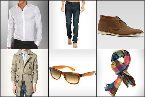 Camisa: D  Vaqueros: Diesel  Botas: Gucci  Trench: Zara  Gafas de sol: Ray-Ban  Bufanda: Purificación García