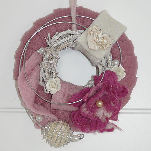 KRANZ & DEKO - Blütenzauber - Türkranz Wanddeko von KREAatelier auf DaWanda.com