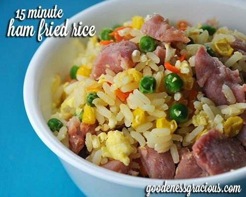 Easy recipe for ham fried rice