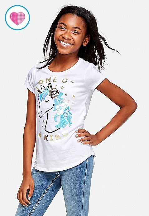 7ff6e0b8 One of a Kind Flip Sequin Graphic Tee | Justice | Girl fashion ...