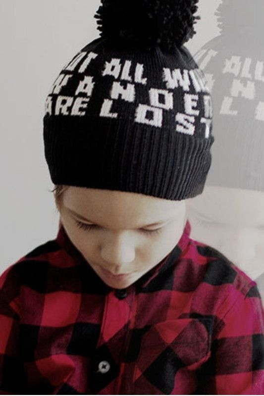 PRJONA PLYM  I  NOT ALL WHO WANDER ARE LOST  knit hat