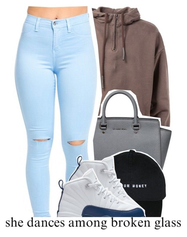 """dope sets 7 8 2016"" by raeebabyy ❤ liked on Polyvore featuring MICHAEL Michael Kors and NIKE"
