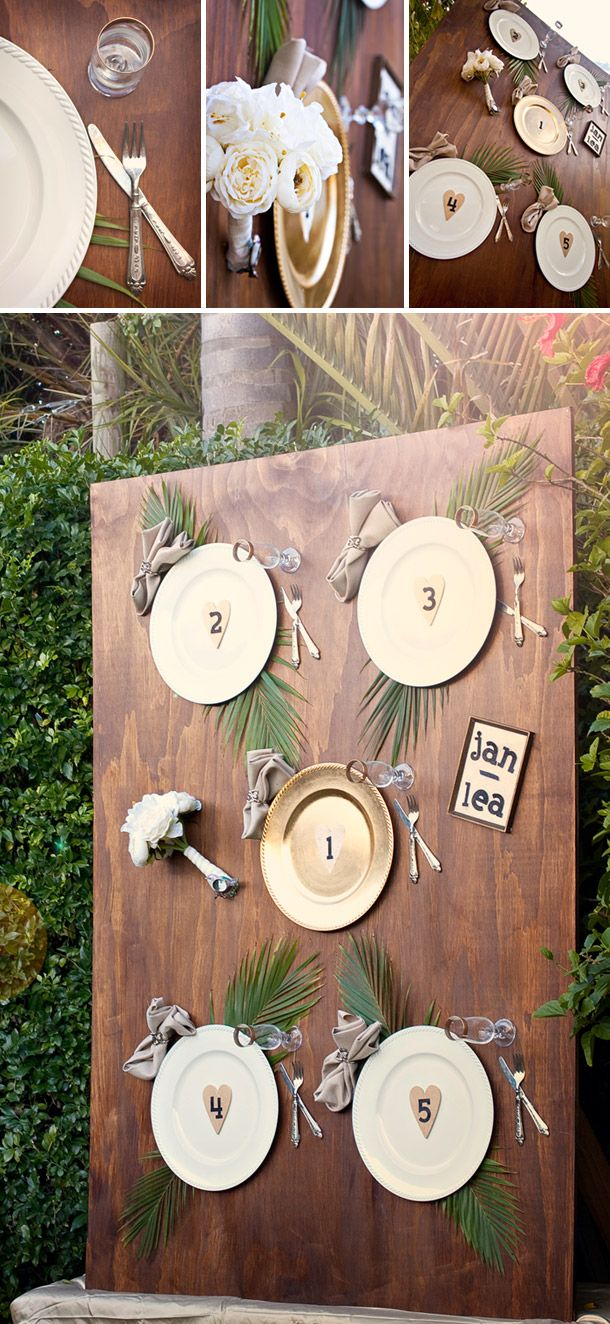 DIY Tableau With Lovely Details For The Wedding Place Order. Amzing Idea  And You Could
