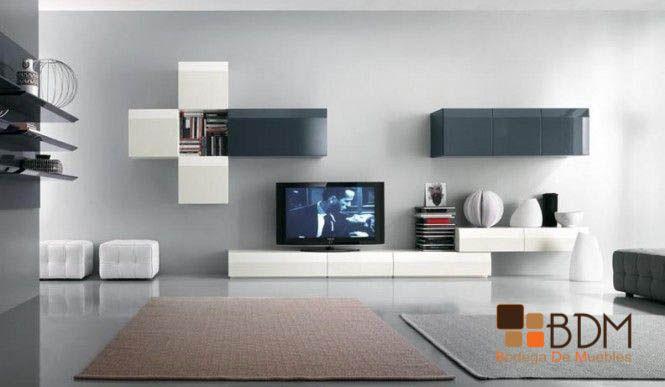Centro de entretenimiento minimalista muebles para - Muebles salon minimalista ...