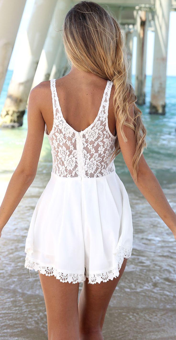 #White #lace #romper
