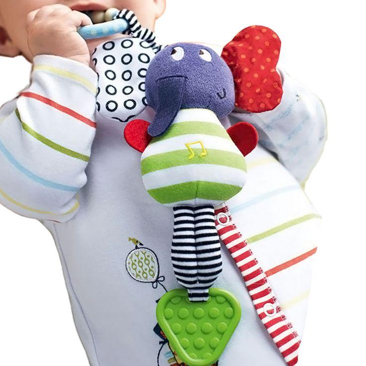 Elephant Baby Toys Rattle New Infant Plush Mobile Baby Toys Lather Crib Car Hanging Rattles Bebe Stroller