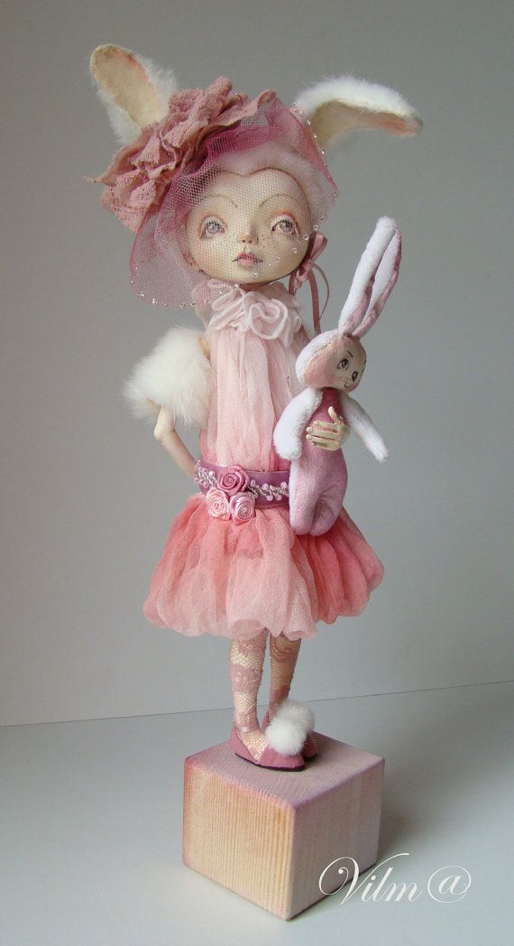 OOAK Art Doll My Sweet Bunny Free shipping by VilmaDolls on Etsy, $400.00