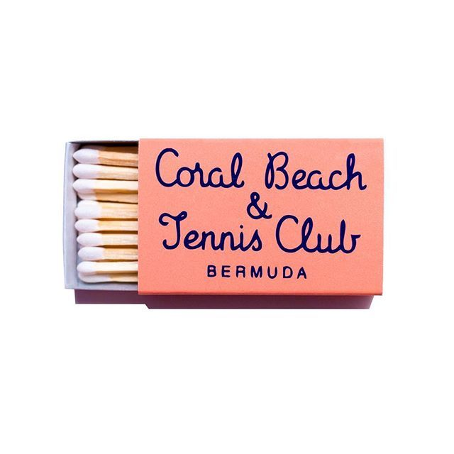 Coral Beach and Tennis Club, Bermuda, lettering, packaging, colour, spring, type, design, typography