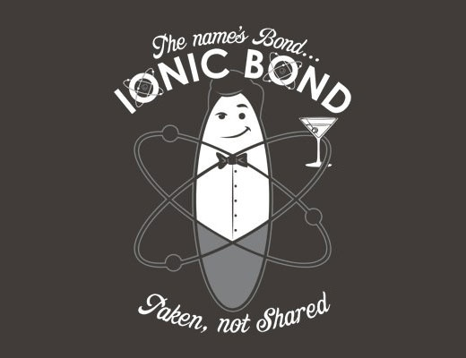Cool way to remember the difference between ionic and covalent bonds.