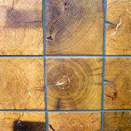 End Grain Tiles: Reclaimed Wood Floor & Wall Tiles in Auburn, NY :: Levanna Restoration Lumber