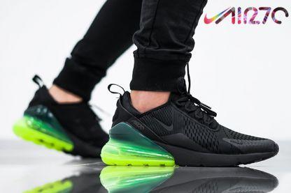 best authentic 40d0c c3b73 Shop Nike Air Max 270 AH8050-011 Black Neon Green in 2019   Nike Air Max  270   Nike air max, Nike, Sneakers