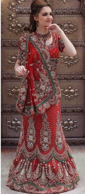Glamorous Heavy Embroidered Bridal Saree –
