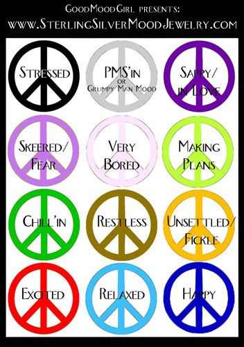 17 best mood rings images on pinterest mood rings for Room color mood chart