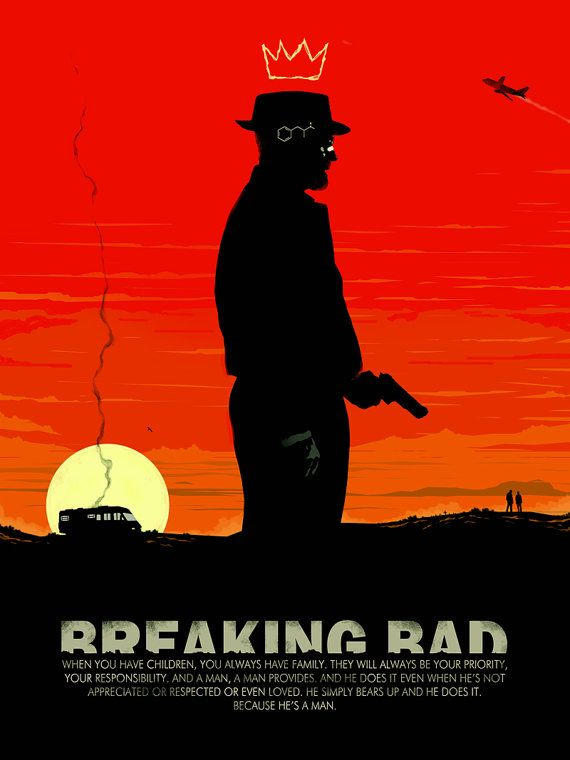 Breaking Bad Heisenberg 18x24 breaking bad by bigbadrobot