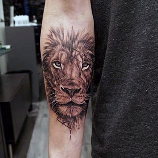 Inner Forearm Lion Tattoos For Males                                                                                                                                                                                 More